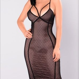 Lexi Mesh sparkly dress Fashion Nova Small
